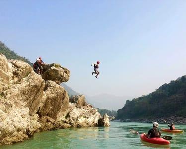 Cliff Jumping Rishikesh + Camping + Rafting Combo @ 25% off