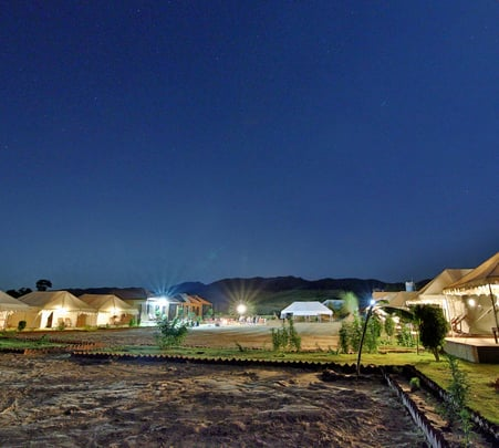 Camping in Pushkar, Rajasthan