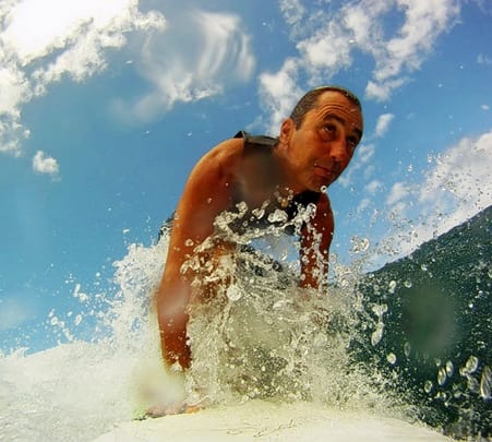 Surfing at Malpe Beach, Udupi