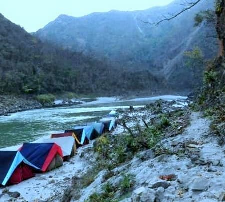 Camping at Ganga Rivera, Rishikesh