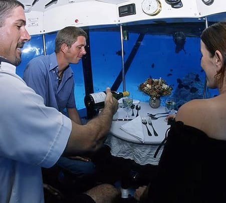 Lunch in a Submarine in Mauritius