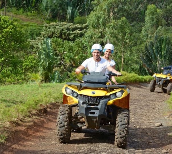 Quad Biking in La Vallee Des Couleurs Nature Park