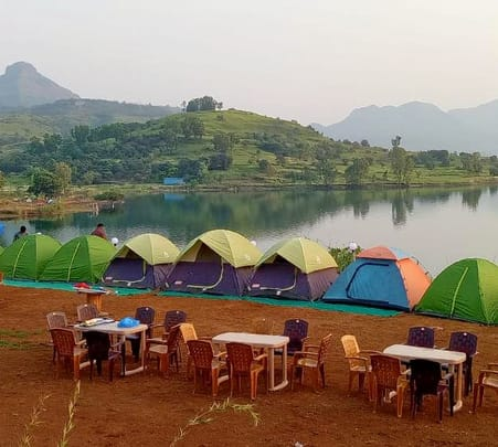 Trekking and Camping at Lakeside in Lonavala