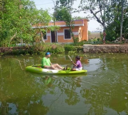 Kayaking on Kerala Backwaters