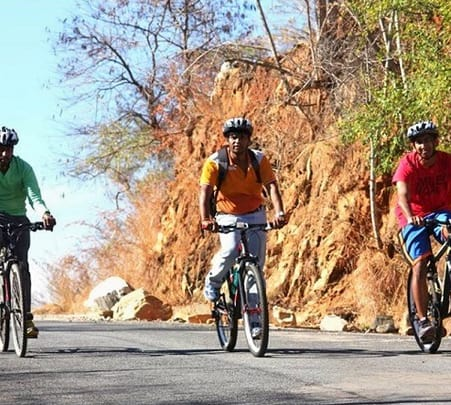 Cycling in Ghati Ghats, Karnataka