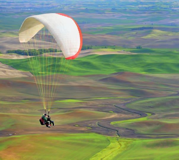 Tandem paragliding at Kamshet