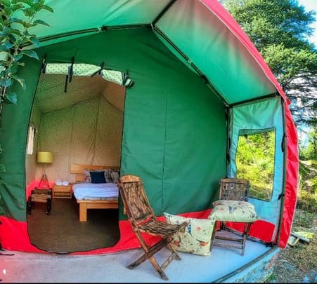 Tented Stay with Mountain Views in Kullu