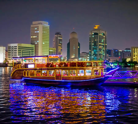 Dhow Dinner Cruise in Dubai Marina Flat 10% off