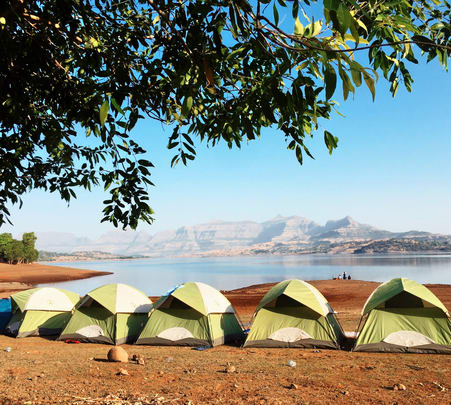 Camping Beside the Bhandardara Lake Flat 10% off