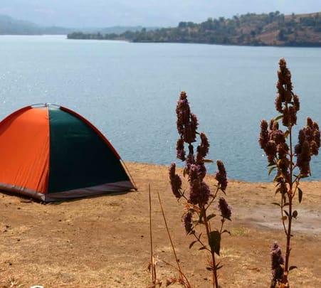 Lakeside Camping near Mukne Dam
