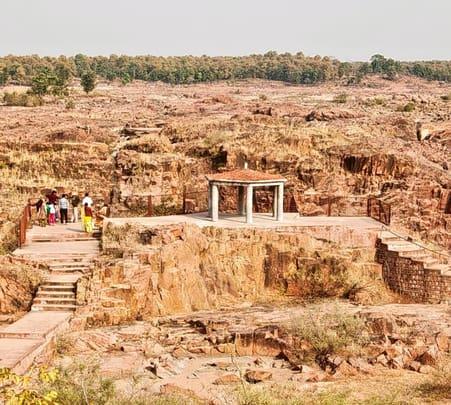 Camping at Raneh Fall, Khajuraho