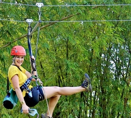 Zip Lining at Borneo in Malaysia