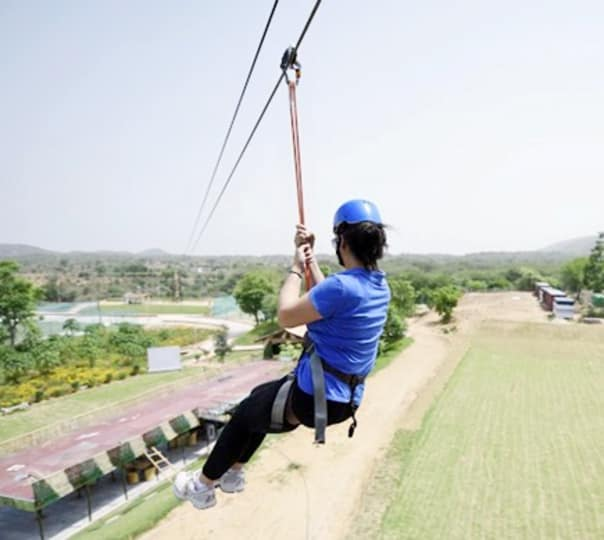 Rock Climbing, Rappelling and Zip-lining Activity at Jaisalmer