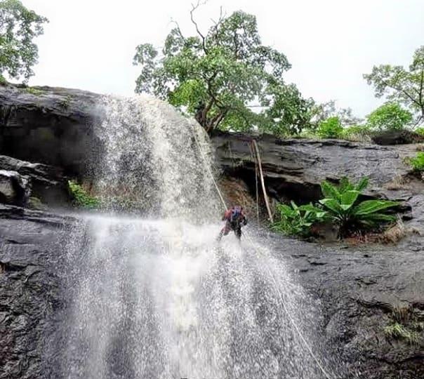 Waterfall Rappelling and Trekking at Madap Waterfalls, Khopoli