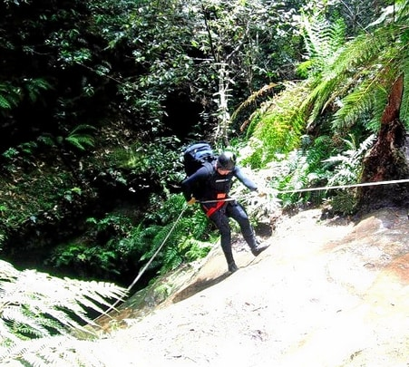 Canyoning near Kundalika River