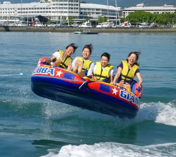 Bumper Tube Ride in Cairns