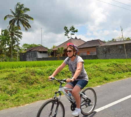 Cycling in Ubud at Bali