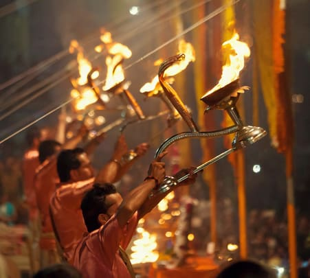 Ganga Arti Ceremony in Varanasi with Boat Ride