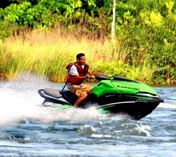 Jet Ski Near Kundalika River