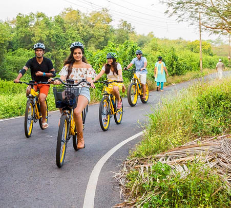 Biking at Divar Island