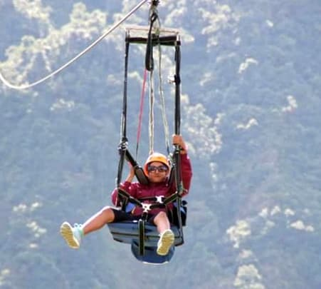 Zip Lining in Pokhara