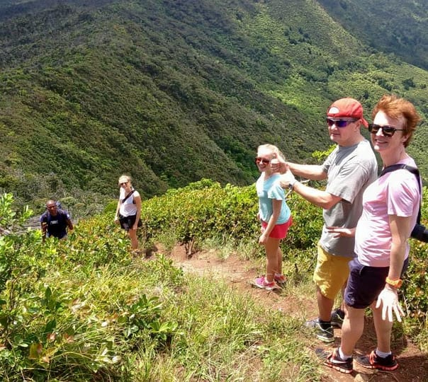 Hiking to Alexandra Falls in Mauritius
