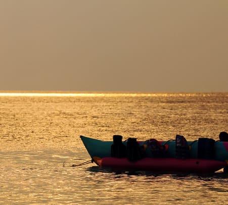 Banana Boat Ride at Dona Paula Beach, Goa