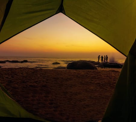 Camping and Surfing at Kovalam, Chennai