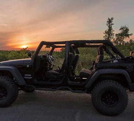 Sunset Jeep Drive at Mandalpatti