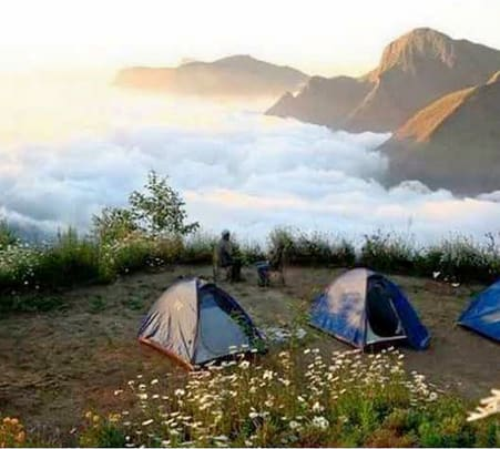 Camping Amidst Clouds in Munnar