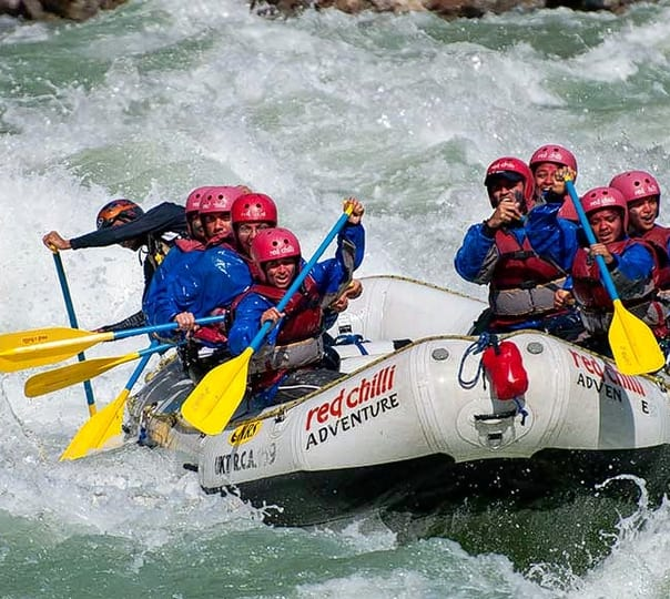 Rafting with Red Chilli Adventure (with Safety Kayaker)
