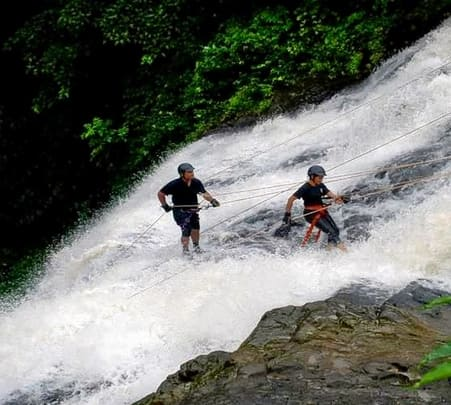 Kondane Caves Waterfall Rappelling