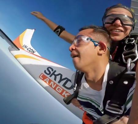 Skydiving in Langkawi, Malaysia