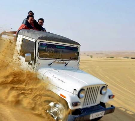 Jeep Safari at Desert in Jaisalmer