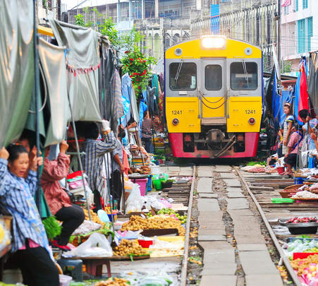 Floating Market and Unseen Train Market Tour in Bangkok