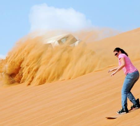 Sandboarding in Dubai