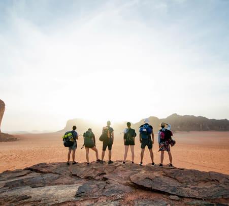 Hiking Experience from Dana to Wadi Rum