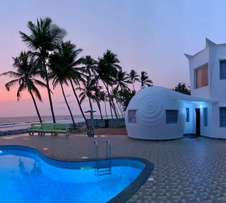 Luxurious Beach House Stay with a Infinity Pool near Udupi
