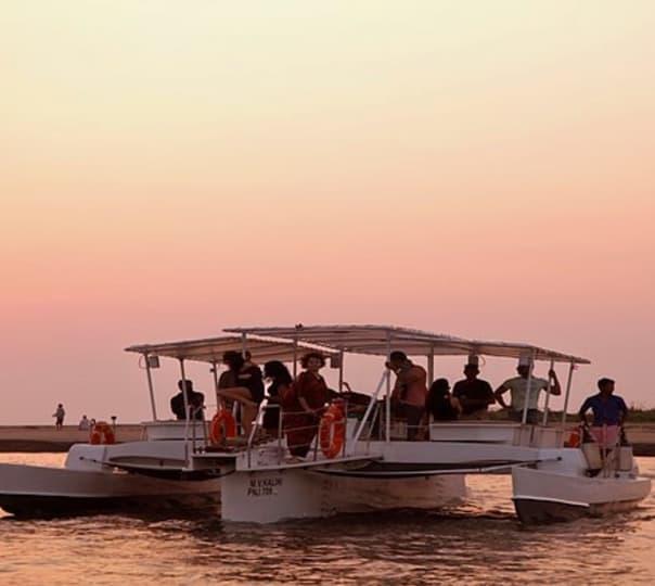 Cruising in Trimaran Boat in Goa