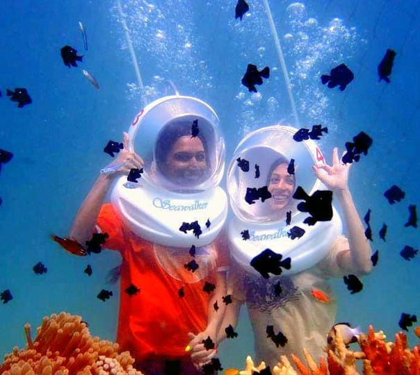 Sea Walk in Havelock Island, Andamans