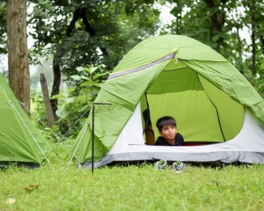 Camping at Ken River, Panna Flat 20% off