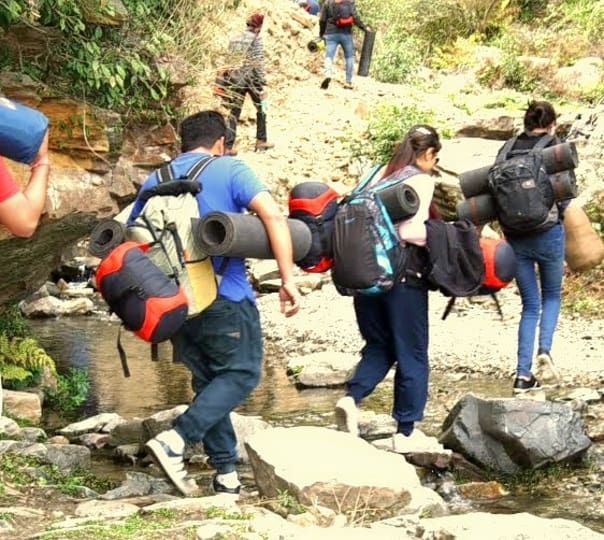 Trekking to Cave Water Falls in Himachal Pradesh