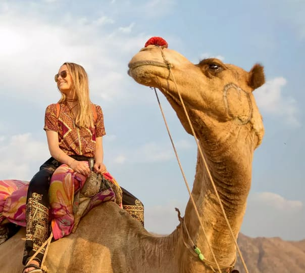 Camping with Camel Safari in Pushkar