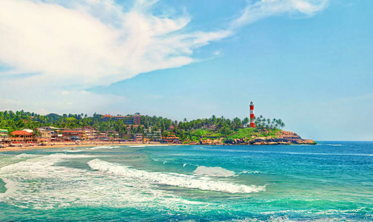 Take Sun Bath At Kovalam Beach