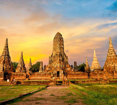 Ayutthaya Sightseeing Tour with Sunset Boat Ride