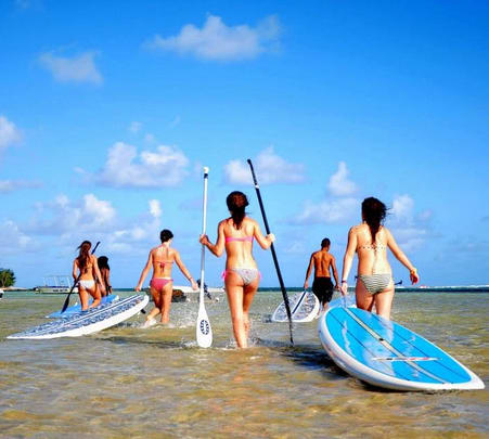 Stand Up Paddle Boarding in Belle Mare