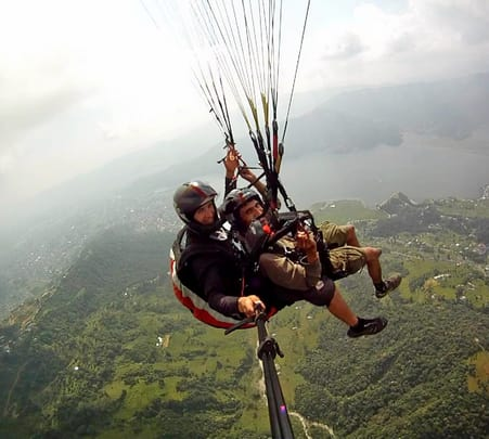 Paragliding in Rishikesh