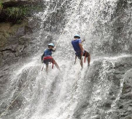 Rapelling At Nishani In Coorg