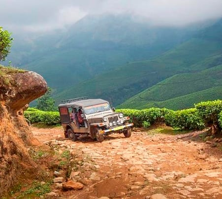 Jeep Safari In Munnar