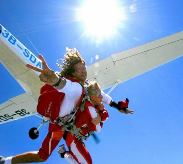Tandem Skydive in Mauritius